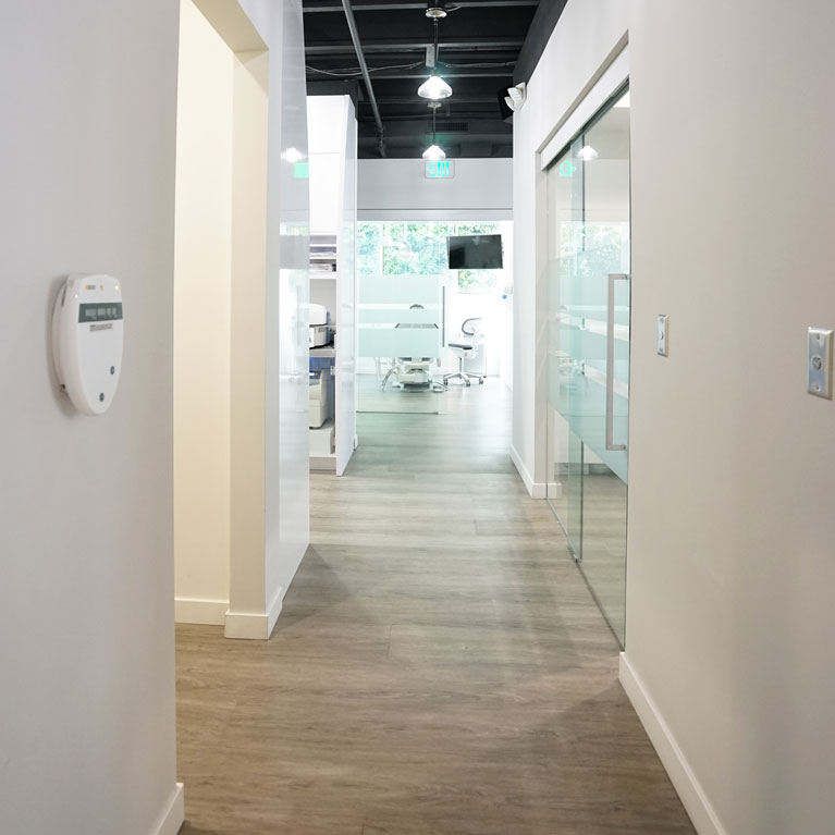 hallway of Vision Dental Office